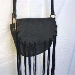 Free People St Germain Fringe Crossbody Bag Purse